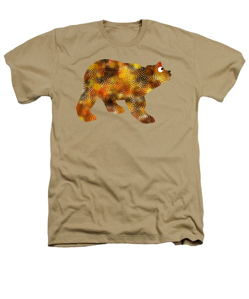 Brown Bear Silhouette Heathers T-Shirt by Christina Rollo