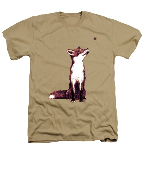 Brown Fox Looks At Thing Heathers T-Shirt