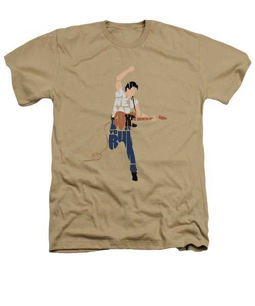 Bruce Springsteen Typography Art Heathers T-Shirt