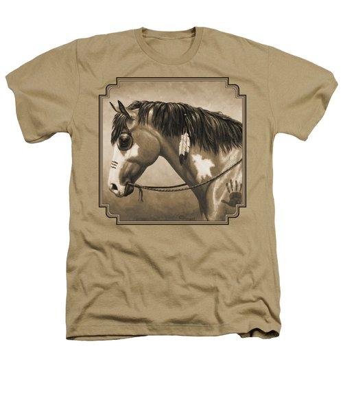Buckskin War Horse In Sepia Heathers T-Shirt