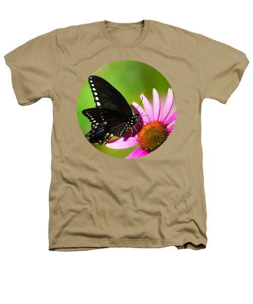 Butterfly In The Sun Heathers T-Shirt by Christina Rollo