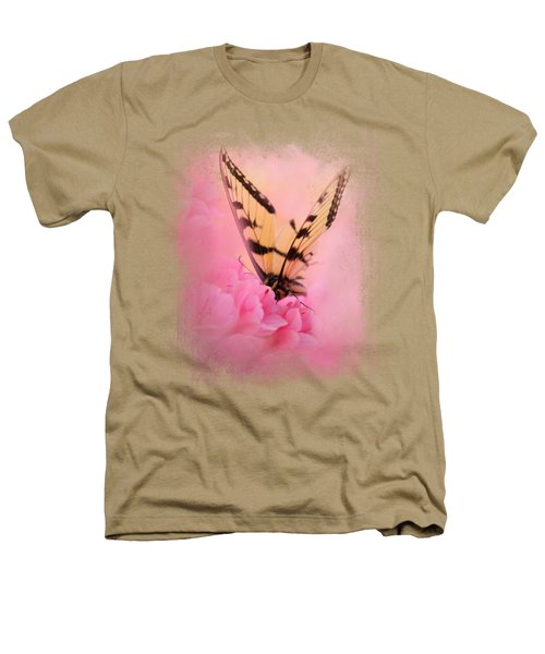 Butterfly On The Azaleas Heathers T-Shirt by Jai Johnson