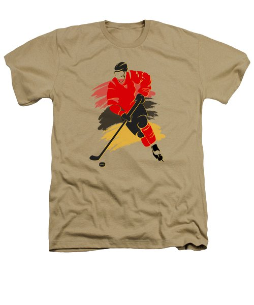 Calgary Flames Player Shirt Heathers T-Shirt by Joe Hamilton