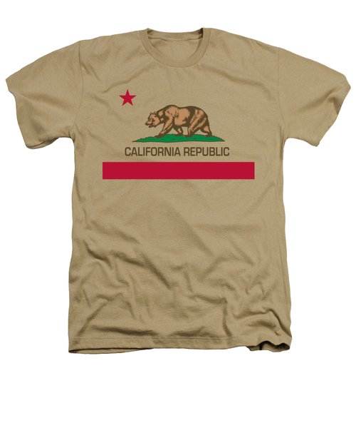 California Republic State Flag Authentic Version Heathers T-Shirt by Bruce Stanfield