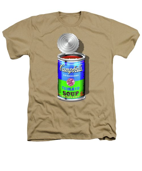 Campbell's Soup Revisited - Blue And Green Heathers T-Shirt by Serge Averbukh