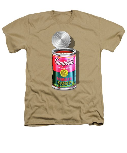 Campbell's Soup Revisited - Pink And Green Heathers T-Shirt by Serge Averbukh