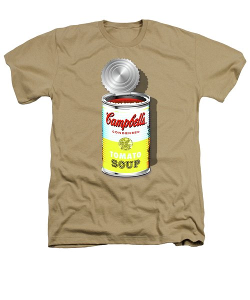 Campbell's Soup Revisited - White And Yellow Heathers T-Shirt by Serge Averbukh