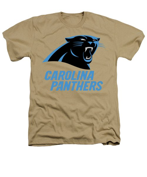 Carolina Panthers On An Abraded Steel Texture Heathers T-Shirt