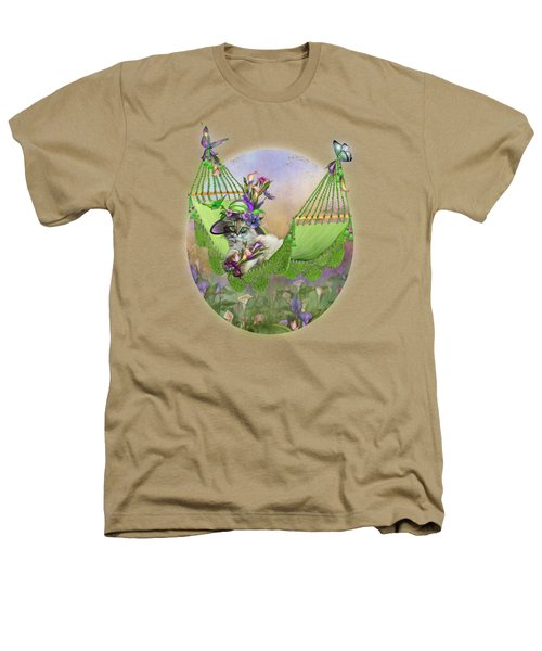 Cat In Calla Lily Hat Heathers T-Shirt