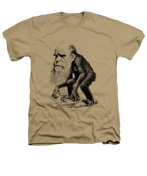 Charles Darwin As An Ape Cartoon Heathers T-Shirt by War Is Hell Store