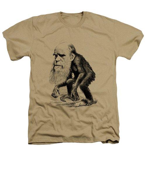 Charles Darwin As An Ape Cartoon Heathers T-Shirt