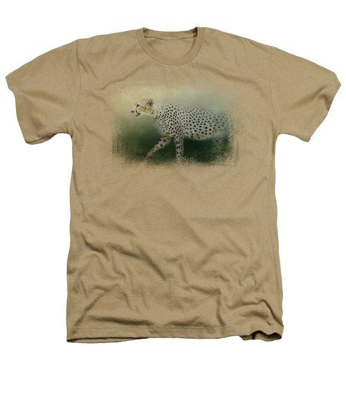 Cheetah On The Prowl Heathers T-Shirt by Jai Johnson