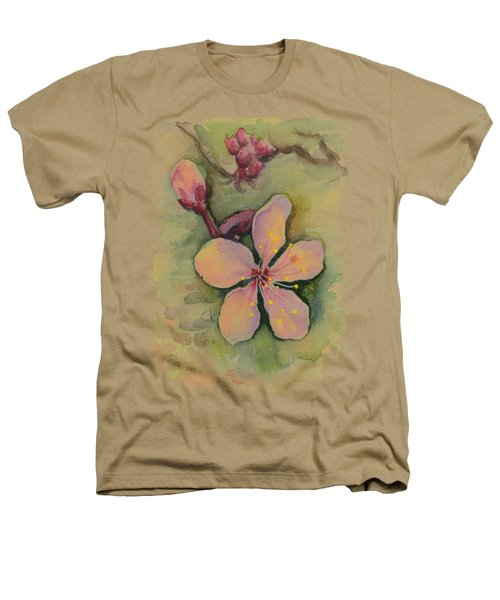 Cherry Blossom Watercolor Heathers T-Shirt