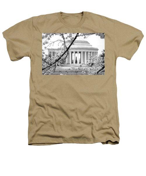 Cherry Tree And Jefferson Memorial Elegance  Heathers T-Shirt