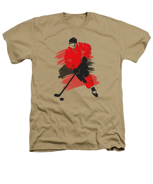 Chicago Blackhawks Player Shirt Heathers T-Shirt by Joe Hamilton