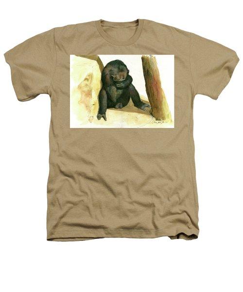 Chimp Heathers T-Shirt by Juan Bosco