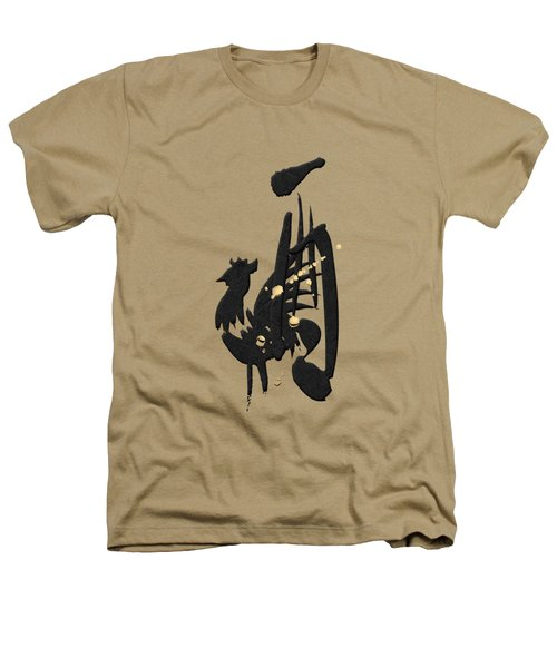 Chinese Zodiac - Year Of The Rooster On Rice Paper Heathers T-Shirt