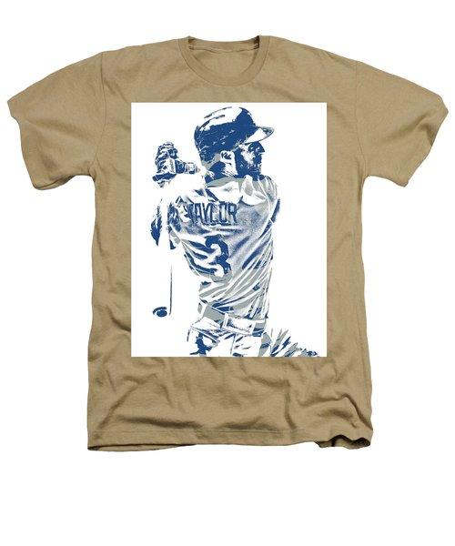 Chris Taylor Los Angeles Dodgers Pixel Art 5 Heathers T-Shirt