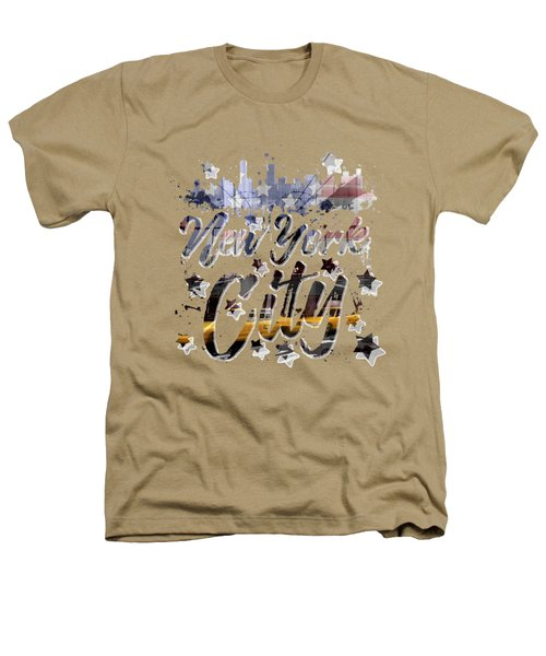 City-art Nyc Composing - Typography Heathers T-Shirt by Melanie Viola