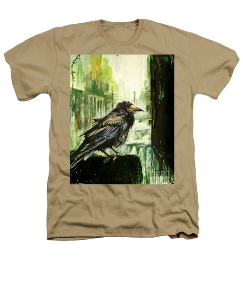 Cityscape With A Crow Heathers T-Shirt