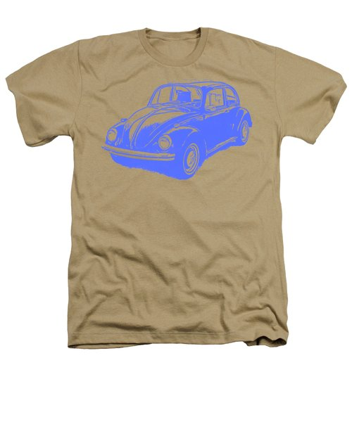 Classic Vw Beetle Tee Blue Ink Heathers T-Shirt by Edward Fielding
