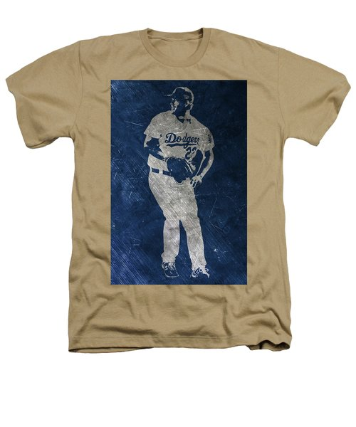 Clayton Kershaw Los Angeles Dodgers Art Heathers T-Shirt