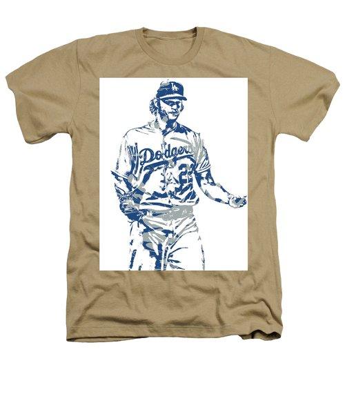 Clayton Kershaw Los Angeles Dodgers Pixel Art 10 Heathers T-Shirt