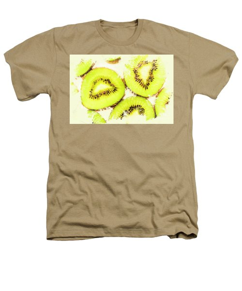 Close Up Of Kiwi Slices Heathers T-Shirt by Jorgo Photography - Wall Art Gallery