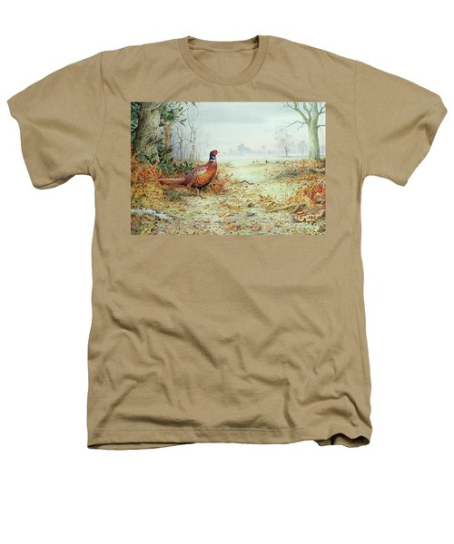 Cock Pheasant  Heathers T-Shirt by Carl Donner