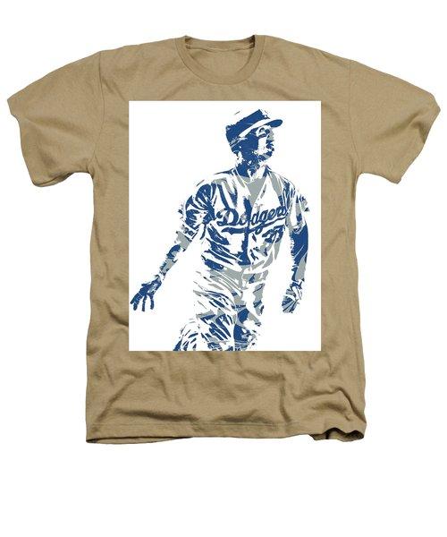 Cody Bellinger Los Angeles Dodgers Pixel Art 20 Heathers T-Shirt
