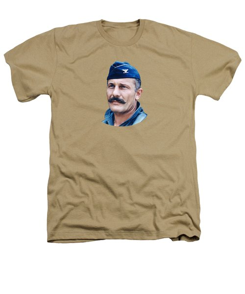 Colonel Robin Olds  Heathers T-Shirt by War Is Hell Store