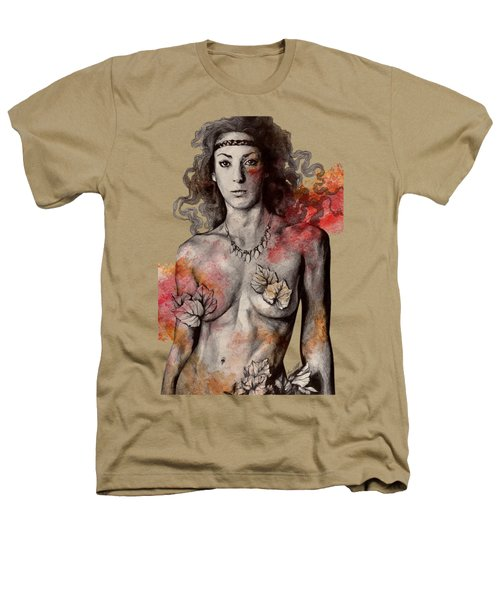 Colony Collapse Disorder - Topless Warrior Woman With Leaves On Nude Breasts Heathers T-Shirt