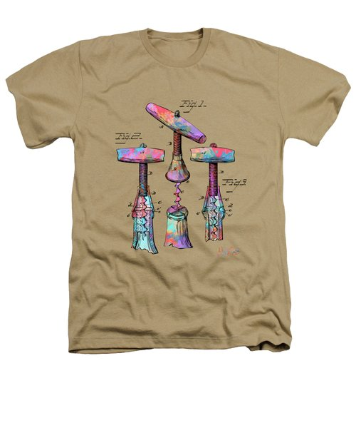 Colorful 1883 Wine Corckscrew Patent Heathers T-Shirt