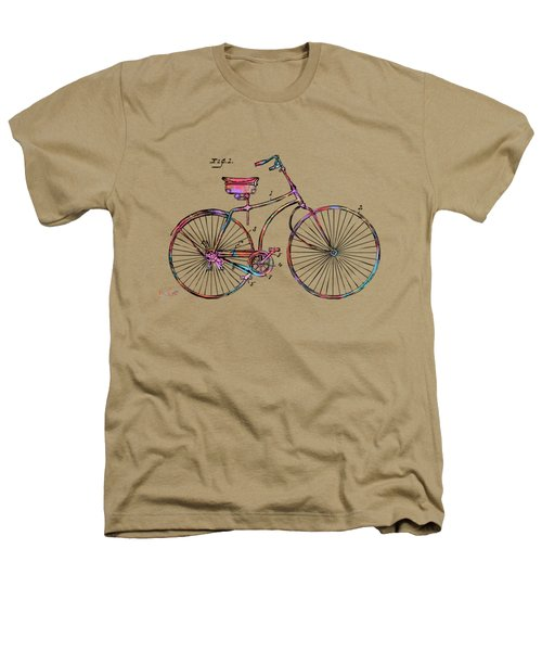 Colorful 1890 Bicycle Patent Minimal Heathers T-Shirt
