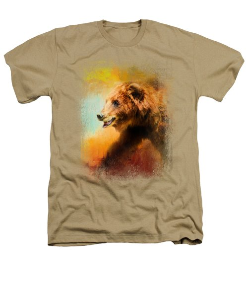 Colorful Expressions Grizzly Bear Heathers T-Shirt by Jai Johnson