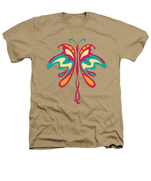 Colourful Art Nouveau Butterfly Heathers T-Shirt by Heidi De Leeuw
