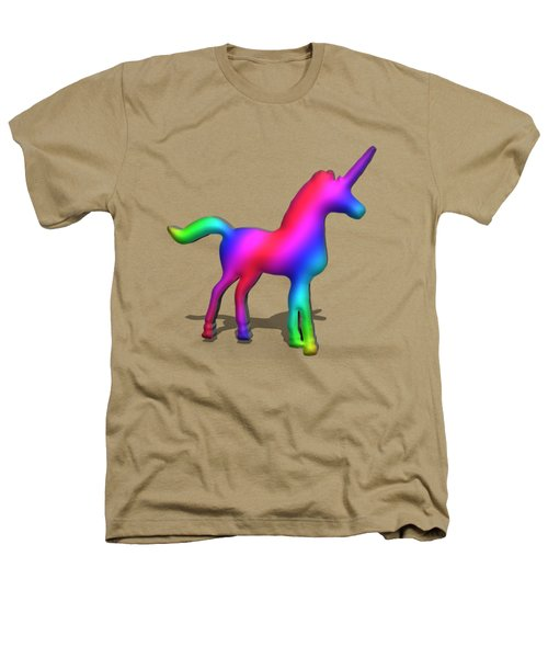 Colourful Unicorn In 3d Heathers T-Shirt by Ilan Rosen