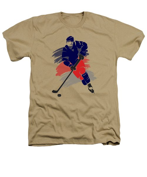 Colubus Blue Jackets Player Shirt Heathers T-Shirt by Joe Hamilton