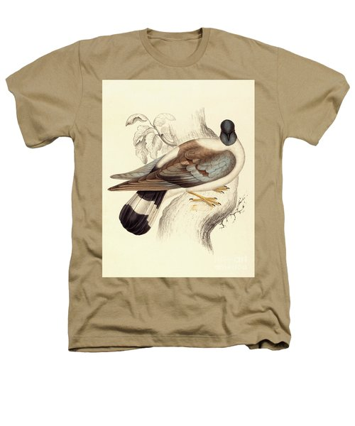 Columba Leuconota, Snow Pigeon Heathers T-Shirt by Elizabeth Gould