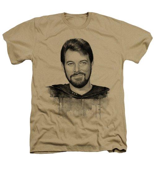Commander William Riker Star Trek Heathers T-Shirt by Olga Shvartsur