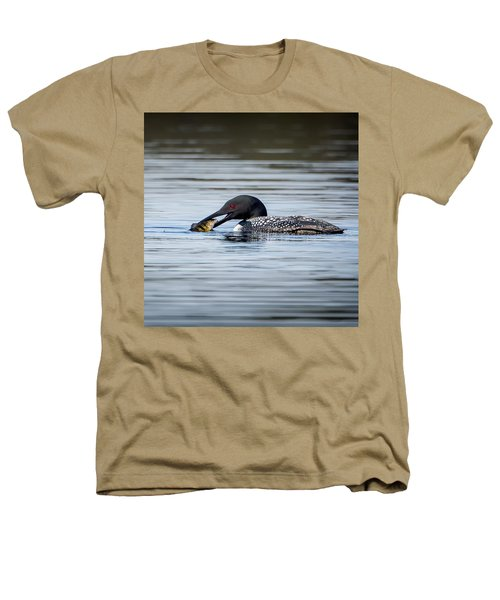 Common Loon Square Heathers T-Shirt by Bill Wakeley