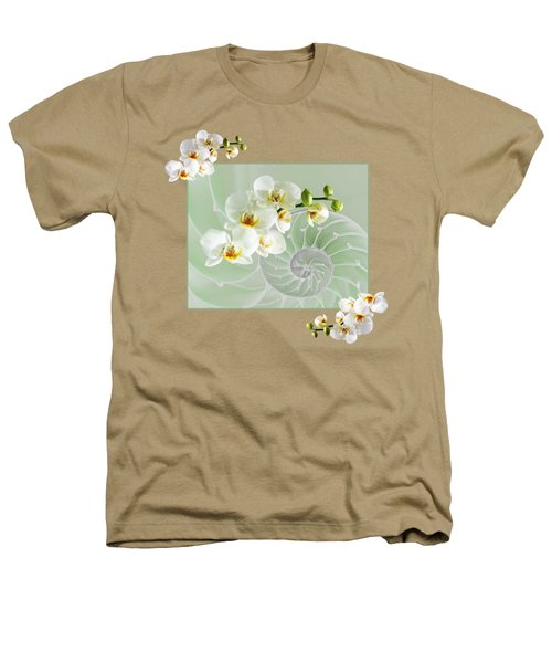 Cool Green Fusion Heathers T-Shirt by Gill Billington