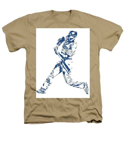 Corey Seager Los Angeles Dodgers Pixel Art 10 Heathers T-Shirt