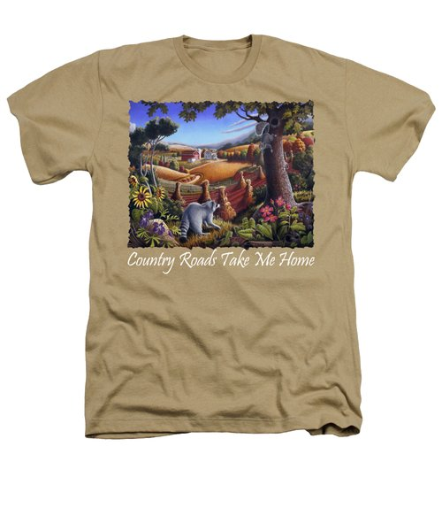 Country Roads Take Me Home T Shirt - Coon Gap Holler - Appalachian Country Landscape 2 Heathers T-Shirt by Walt Curlee