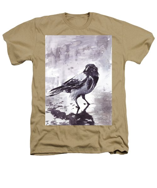 Crow Watercolor Heathers T-Shirt