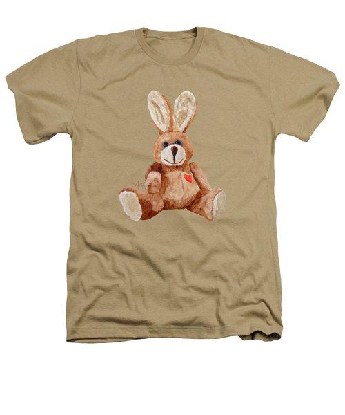 Cuddly Care Rabbit Heathers T-Shirt by Angeles M Pomata