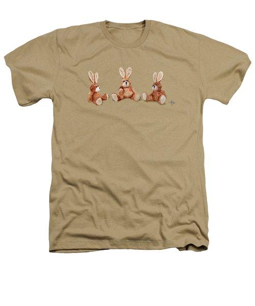 Cuddly Care Rabbit II Heathers T-Shirt by Angeles M Pomata
