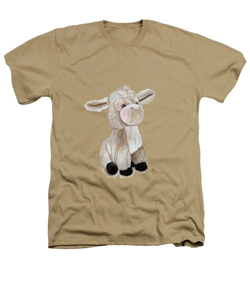 Cuddly Donkey Watercolor Heathers T-Shirt