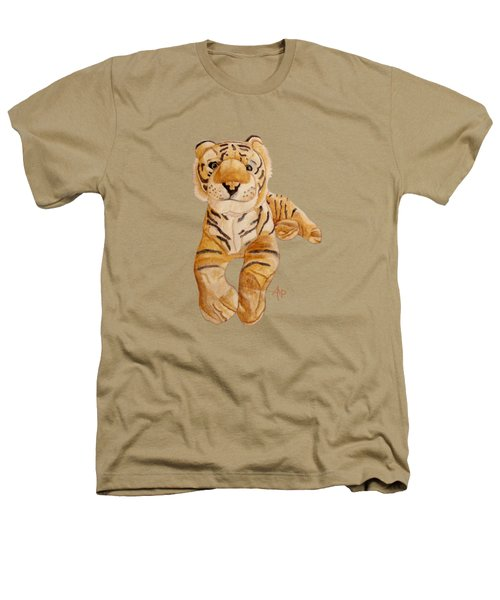 Cuddly Tiger Heathers T-Shirt by Angeles M Pomata