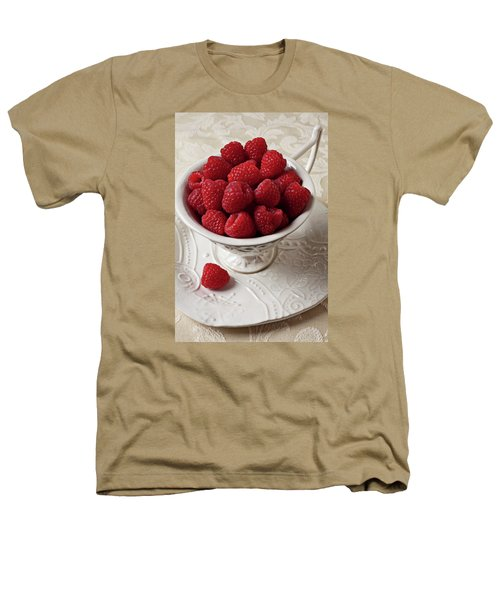 Cup Full Of Raspberries  Heathers T-Shirt by Garry Gay